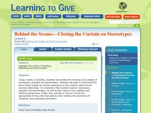 Setting the Stage for Service Learning Relationships Lesson Plan