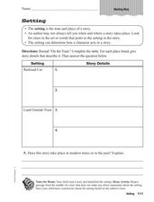 Setting Worksheet