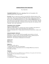 Settlement Patterns of the United States Lesson Plan