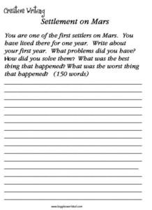 Settlers on Mars Worksheet