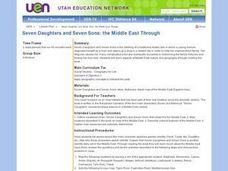 Seven Daughters and Seven Sons: the Middle East Through Lesson Plan