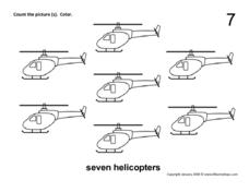 Seven Helicopters Worksheet