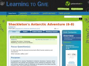 Shackleton's Antarctic Adventure Lesson Plan