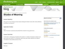 Shades of Meaning Lesson Plan