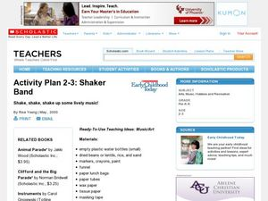 Shaker Band Lesson Plan