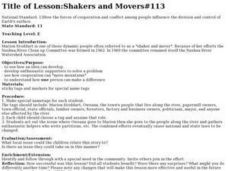 Shakers and Movers Lesson Plan