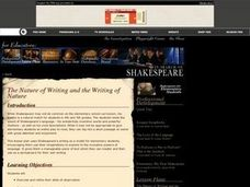 Shakespeare: The Nature of Writing and the Writing of Nature Lesson Plan