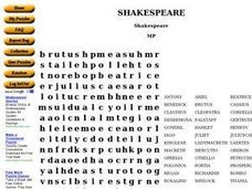Shakespeare Worksheet