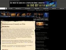 Shakespearean Comedy on Film Lesson Plan