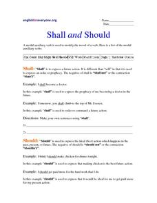 Shall and Should Worksheet