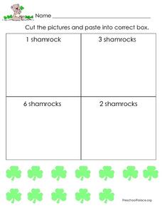 Shamrock Numbers: 1-6 Lesson Plan