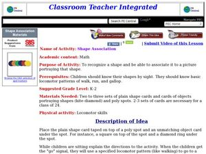 Shape Association Lesson Plan