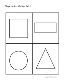Shape Cards Worksheet