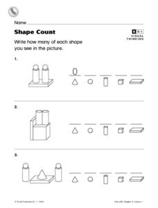 Shape Count- Counting Pictures Worksheet