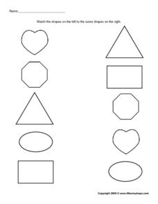 Shape Match 3 Worksheet