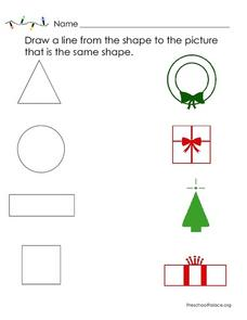 Shape Matching Lesson Plan