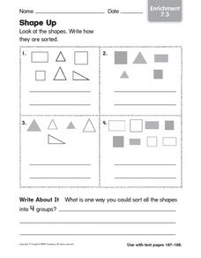 Shape Up! Worksheet