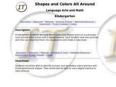 Shapes and Colors All Around Lesson Plan