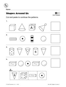 Shapes Around Us Worksheet