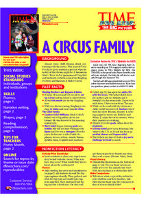 Shapes at the Circus and Why Be in the Circus? Lesson Plan