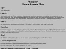 """Shapes"" Dance Lesson Plan Lesson Plan"