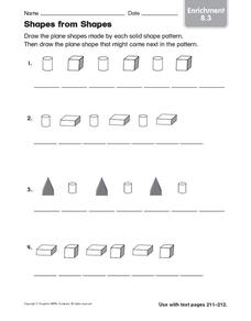 Shapes from Shapes: Enrichment Worksheet