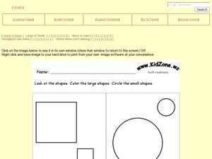 Shapes: Large or Small? Worksheet