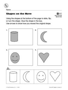 Shapes on the Move Worksheet