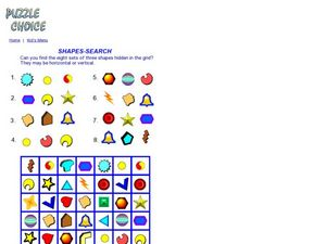 Shapes-Search Worksheet
