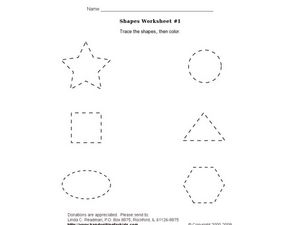 Shapes Worksheet  1 Worksheet