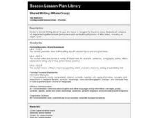 Shared Writing (Whole Group) Lesson Plan