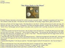 She Ships Shells to the Shore Lesson Plan