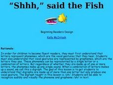 """Shhh,"" said the Fish Lesson Plan"