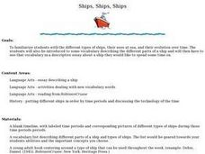 Ships and More Ships Lesson Plan