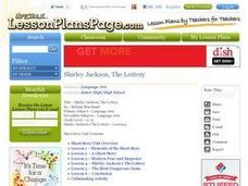 shirley jackson the lottery 11th 12th grade lesson plan lesson planet. Black Bedroom Furniture Sets. Home Design Ideas