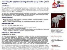 george orwells essay shooting an elephant analysis