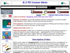 Shopping at the Lift and Carry Store Lesson Plan
