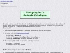 Shopping in La Redoute Catalogue Lesson Plan