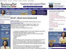 Short Story Framework Lesson Plan