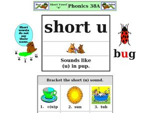 Short Vowel U Worksheet