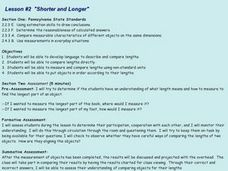 """Shorter and Longer"" Lesson Plan"