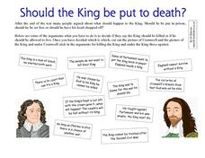 Should the King Be Put To Death? Worksheet