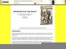 Should the U.S. Say Sorry? Lesson Plan