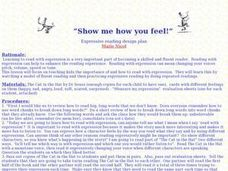 Show Me How You Feel Lesson Plan