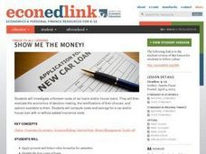 Show Me the Money! A Lesson on the Unforeseen Costs of Car and House Loans Lesson Plan
