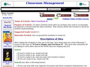 Show You Know It Lesson Plan