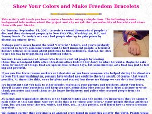 Show Your Colors and Make Freedom Bracelets Lesson Plan