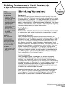 Shrinking Watershed Lesson Plan