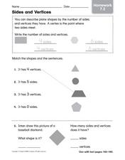 Sides and Vertices Worksheet