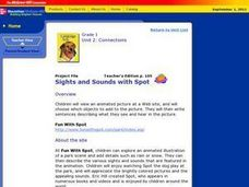 Sights and Sounds with Spot Lesson Plan